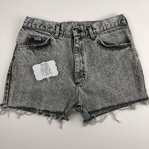 Vintage High Waist Acid Wash Cut off Jean Shorts
